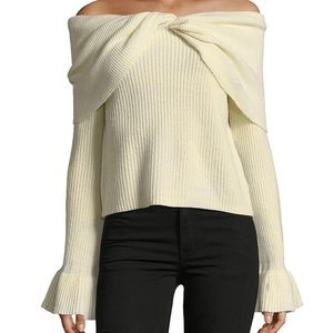 Ella Moss Jasinda Off The Shoulder Ribbed Sweater